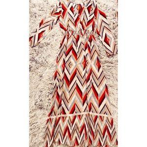 Bar III Chevron Maxi Dress